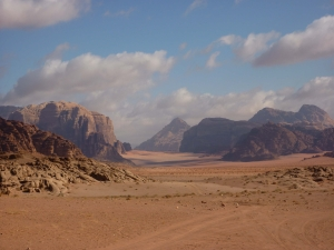 Wadi Rum in south Jordan
