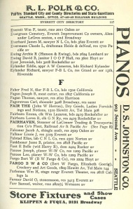 Scan of Polk directory page