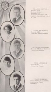 1916 yearbook page