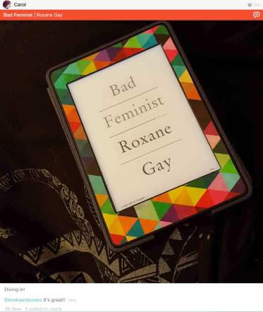 roxane gay bad feminist by carol on litsy