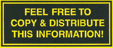 "Yellow text on black background that reads ""feel free to copy & distribute this information.'"