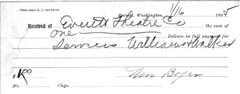 Receipt from 1905 for Luella Boyer